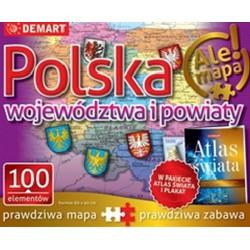 Puzzle edukacyjne Polska -...