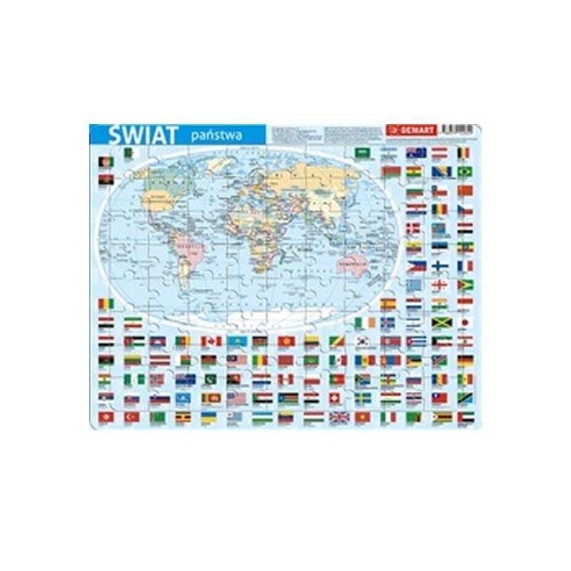 Puzzle ramkowe świat - państwa