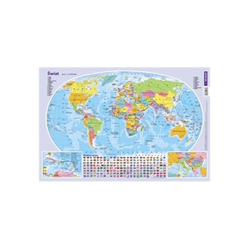 Mapa świata podkładka na...