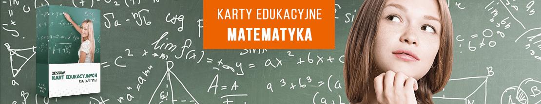 Karty edukacyjne do matematyki